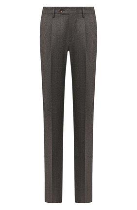 Мужские шерстяные брюки LUCIANO BARBERA коричневого цвета, арт. 104136/25233 | Фото 1