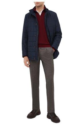 Мужские шерстяные брюки LUCIANO BARBERA коричневого цвета, арт. 104136/25233 | Фото 2