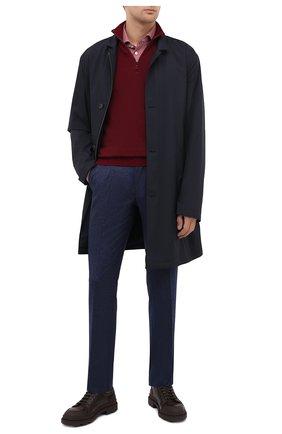 Мужские шерстяные брюки LUCIANO BARBERA темно-синего цвета, арт. 104136/25233 | Фото 2