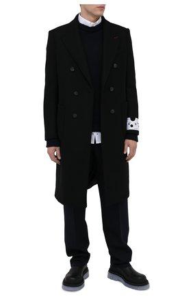 Мужской шерстяные брюки JIL SANDER темно-синего цвета, арт. JSMR310401-MR201400   Фото 2