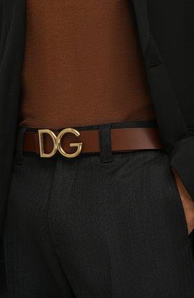 Мужской кожаный ремень DOLCE & GABBANA коричневого цвета, арт. BC4248/AC493 | Фото 2