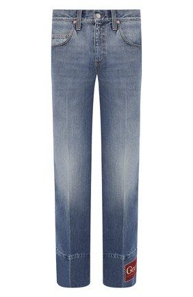 Мужские джинсы GUCCI синего цвета, арт. 623315/XDBDJ | Фото 1
