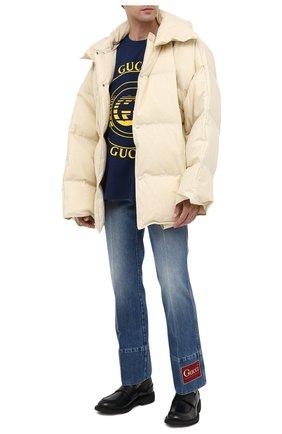 Мужские джинсы GUCCI синего цвета, арт. 623315/XDBDJ | Фото 2