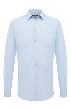 Мужская хлопковая сорочка DOLCE & GABBANA голубого цвета, арт. G5EJ0T/FUEEE | Фото 1