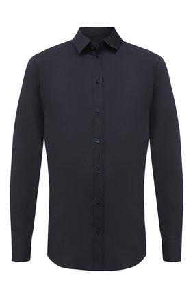 Мужская хлопковая сорочка DOLCE & GABBANA темно-синего цвета, арт. G5EJ0T/FUEEE | Фото 1