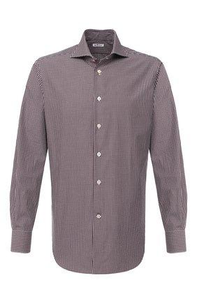 Мужская хлопковая сорочка KITON коричневого цвета, арт. UCCH0746812 | Фото 1