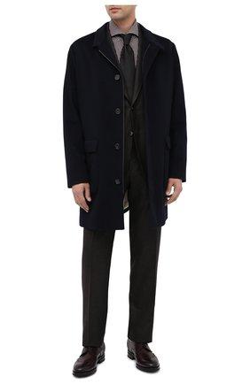 Мужская хлопковая сорочка KITON коричневого цвета, арт. UCCH0746812 | Фото 2