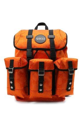 Мужской текстильный рюкзак off the grid GUCCI оранжевого цвета, арт. 626160/H9HFN | Фото 1
