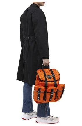 Мужской текстильный рюкзак off the grid GUCCI оранжевого цвета, арт. 626160/H9HFN | Фото 2
