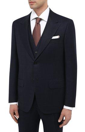 Мужской шерстяной костюм-тройка KITON темно-синего цвета, арт. UAGL862K02T01 | Фото 2