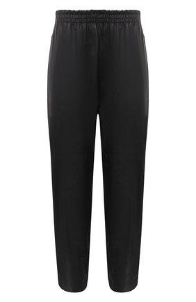 Мужской кожаные брюки BOTTEGA VENETA черного цвета, арт. 633448/VKVL0 | Фото 1