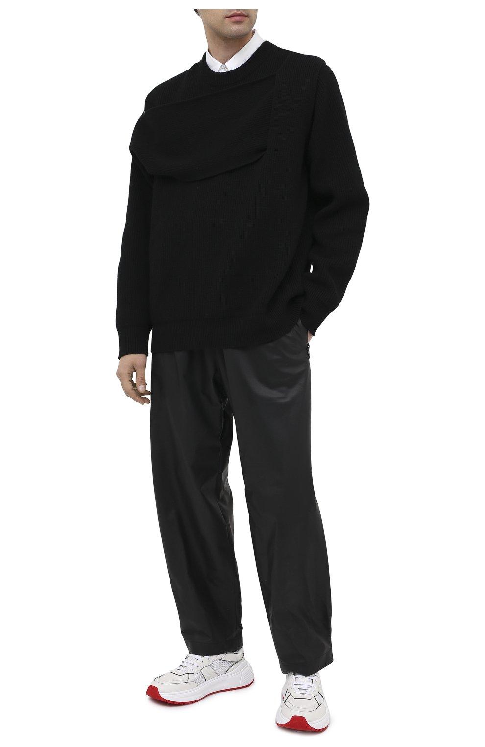 Мужские кожаные брюки BOTTEGA VENETA черного цвета, арт. 633448/VKVL0 | Фото 2