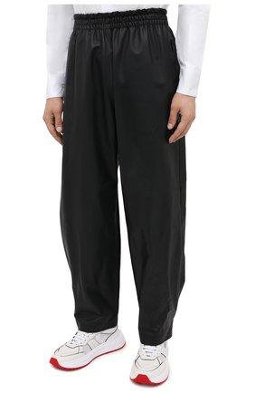 Мужские кожаные брюки BOTTEGA VENETA черного цвета, арт. 633448/VKVL0 | Фото 3