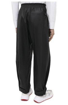 Мужские кожаные брюки BOTTEGA VENETA черного цвета, арт. 633448/VKVL0 | Фото 4