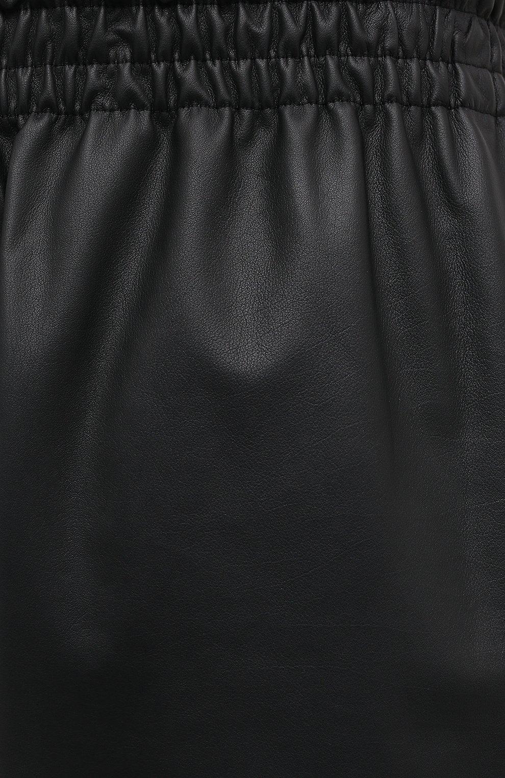 Мужские кожаные брюки BOTTEGA VENETA черного цвета, арт. 633448/VKVL0 | Фото 5