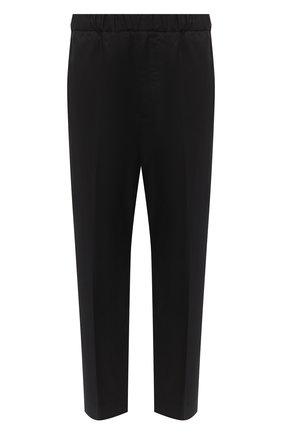 Мужской хлопковые брюки JIL SANDER черного цвета, арт. JSMR311818-MR243800   Фото 1