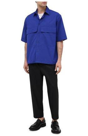 Мужской хлопковые брюки JIL SANDER черного цвета, арт. JSMR311818-MR243800   Фото 2