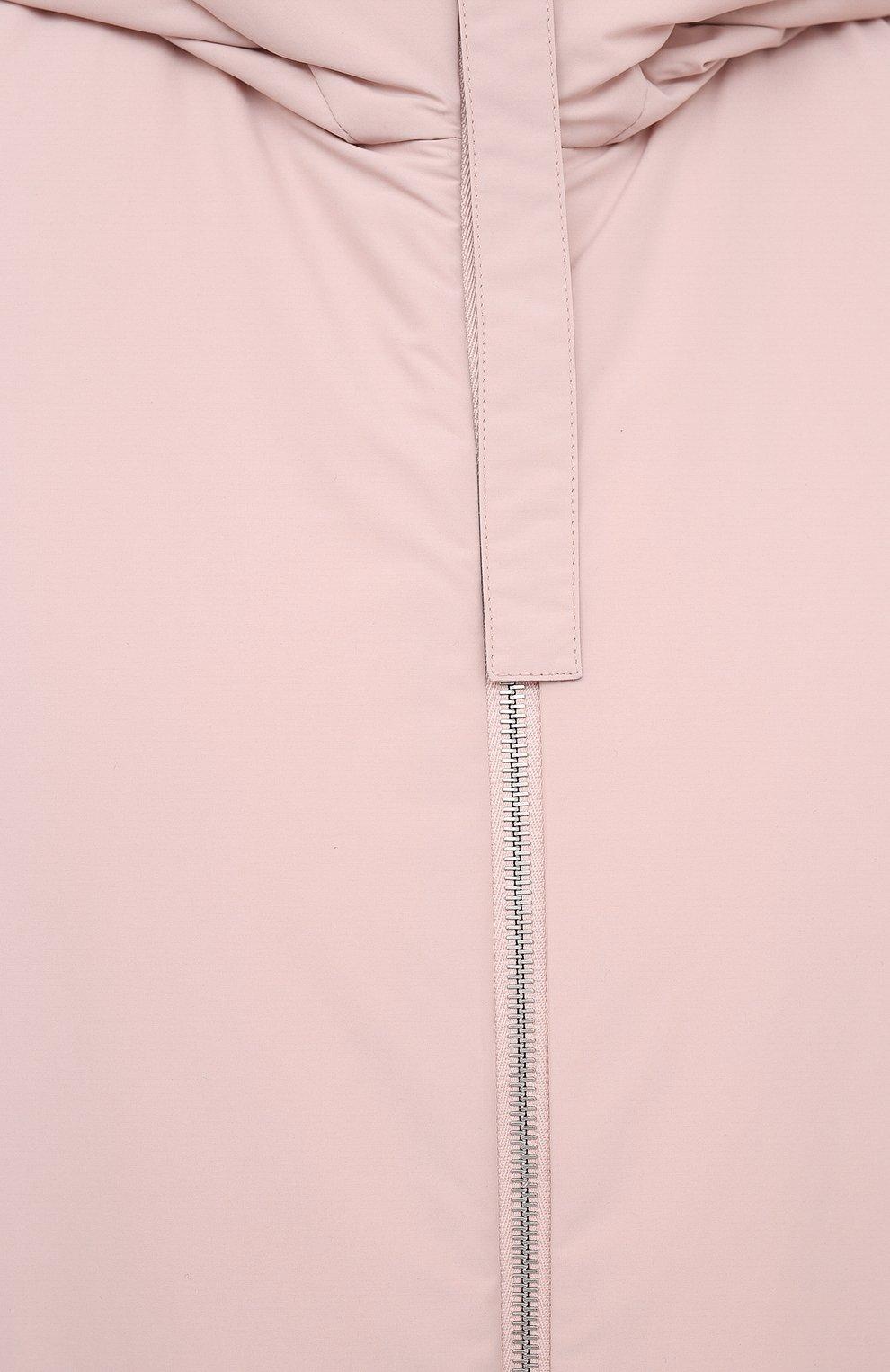 Женский пуховый жилет JIL SANDER розового цвета, арт. JPPR441194-WR440900 | Фото 5 (Материал внешний: Синтетический материал; Кросс-КТ: Пуховик; Материал подклада: Синтетический материал)