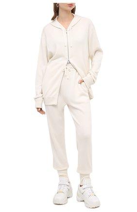 Женский кардиган из кашемира шелка JIL SANDER белого цвета, арт. JPPR751500-WRY11028   Фото 2