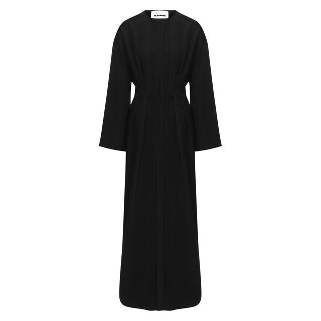 Платье из вискозы и льна Jil Sander
