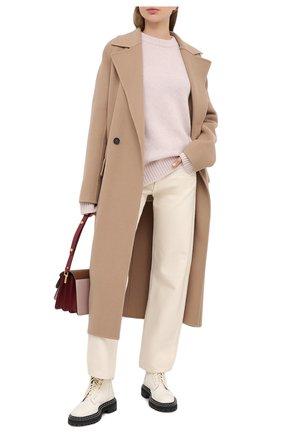 Женская свитер из шерсти и кашемира JIL SANDER светло-розового цвета, арт. JSPR752051-WRY21058 | Фото 2