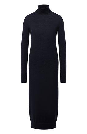 Женское шерстяное платье JIL SANDER темно-синего цвета, арт. JSPR754054-WRY20058   Фото 1