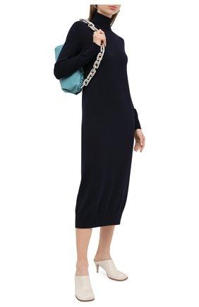 Женское шерстяное платье JIL SANDER темно-синего цвета, арт. JSPR754054-WRY20058   Фото 2