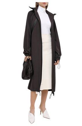 Женская юбка из шерсти и вискозы JIL SANDER белого цвета, арт. JSPR754072-WRY39038 | Фото 2