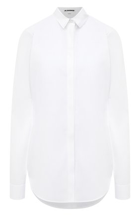 Женская хлопковая рубашка JIL SANDER белого цвета, арт. JSXR600005-WR244300   Фото 1