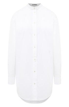 Женская хлопковая рубашка JIL SANDER белого цвета, арт. JSXR600205-WR244300 | Фото 1