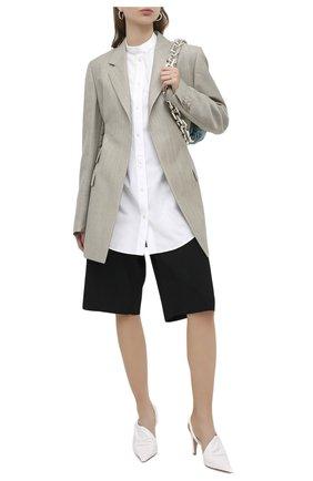 Женская хлопковая рубашка JIL SANDER белого цвета, арт. JSXR600205-WR244300 | Фото 2