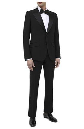 Мужские кожаные оксфорды SAINT LAURENT черного цвета, арт. 634332/1YZ00 | Фото 2