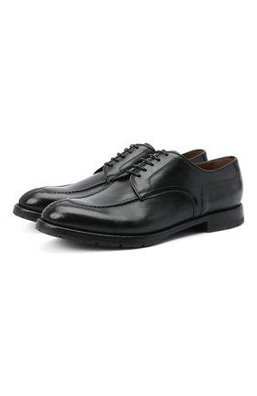 Мужской кожаные дерби W.GIBBS черного цвета, арт. 0337007/2280 | Фото 1