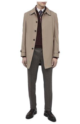 Мужской кожаные дерби W.GIBBS темно-коричневого цвета, арт. 7260001/2248 | Фото 2