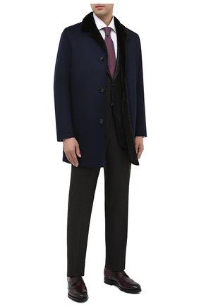 Мужской шерстяной костюм KITON коричневого цвета, арт. UA81K01T52 | Фото 1 (Материал внешний: Шерсть; Материал подклада: Купро; Рукава: Длинные; Костюмы М: Однобортный; Стили: Классический)