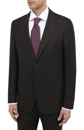 Мужской шерстяной костюм KITON коричневого цвета, арт. UA81K01T52 | Фото 2 (Материал внешний: Шерсть; Материал подклада: Купро; Рукава: Длинные; Костюмы М: Однобортный; Стили: Классический)