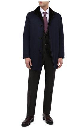 Мужской кожаные дерби KITON коричневого цвета, арт. USSTRESN00101 | Фото 2