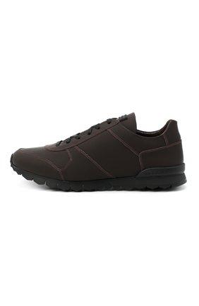 Мужские кожаные кроссовки KITON коричневого цвета, арт. USSVLAZN00674   Фото 3