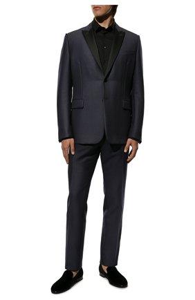 Мужские текстильные лоферы leonardo DOLCE & GABBANA черного цвета, арт. A50396/A6808 | Фото 2