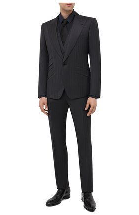 Мужской шерстяной костюм-тройка DOLCE & GABBANA темно-серого цвета, арт. GK5BMT/FR2X8 | Фото 1