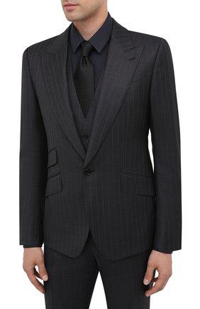 Мужской шерстяной костюм-тройка DOLCE & GABBANA темно-серого цвета, арт. GK5BMT/FR2X8 | Фото 2