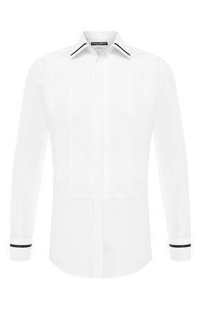 Мужская хлопковая сорочка DOLCE & GABBANA белого цвета, арт. G5HW2T/FU5K9 | Фото 1