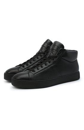Мужские кожаные ботинки SANTONI черного цвета, арт. MBGL20851NE0RSSSN01   Фото 1