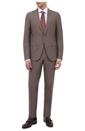Мужские кожаные монки SANTONI коричневого цвета, арт. MCCR11652MC1HNGWT50 | Фото 2