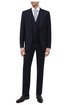 Мужские кожаные оксфорды SANTONI черного цвета, арт. MCCR12474JC6IRICN01 | Фото 2
