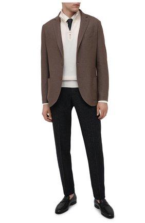 Мужские кожаные пенни-лоферы SANTONI черного цвета, арт. MCNC15609SI1EGTKN01 | Фото 2