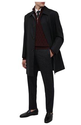 Мужские кожаные пенни-лоферы SANTONI черного цвета, арт. MCNC15609SI1ERNAN51 | Фото 2