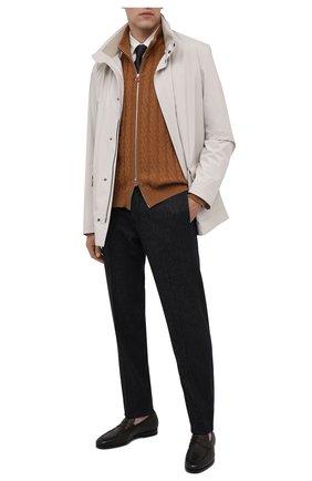Мужские кожаные пенни-лоферы SANTONI темно-коричневого цвета, арт. MCNC15609SI1ERNAT50 | Фото 2