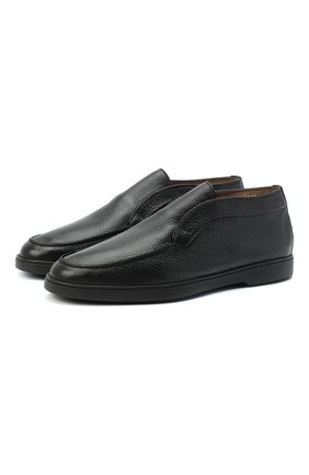 Мужские кожаные ботинки SANTONI черного цвета, арт. MGYA16715SM0AADCN01   Фото 1