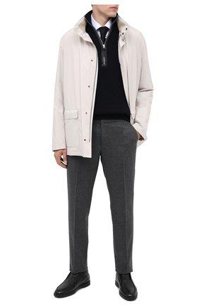 Мужские кожаные ботинки SANTONI черного цвета, арт. MGYA16715SM0AADCN01   Фото 2